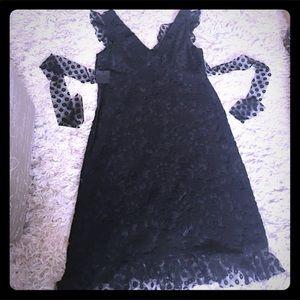 Beautiful new Anna Sui black lace dress. NWOT